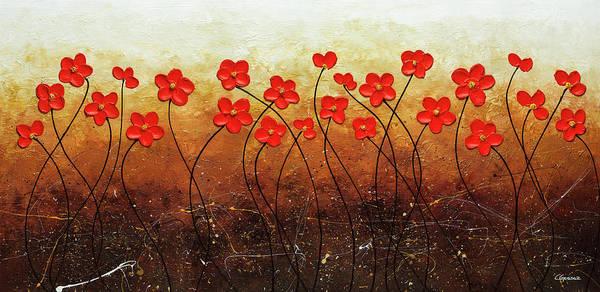 Painting - Flores De Mi Jardin by Carmen Guedez