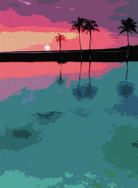 Painting - Florida At Sunset, Siesta Key by Andrea Mazzocchetti