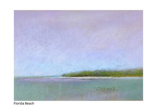 Pastel - Florida Beach by Betsy Derrick