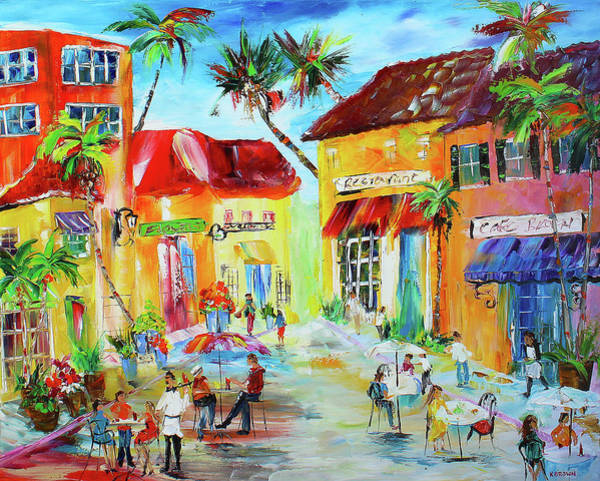 Florida Cafe Art Print
