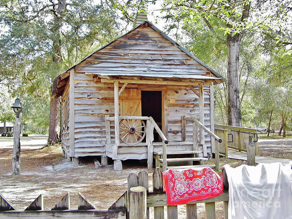 Misson Photograph - Florida Cracker Church And School House by D Hackett
