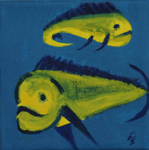 Painting - Florida Fish by Annette M Stevenson