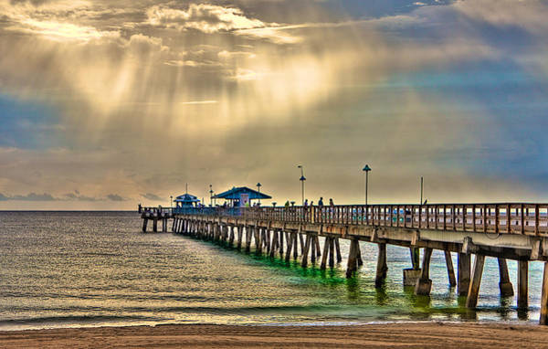 Wall Art - Photograph - Florida Fishing Pier by William Wetmore