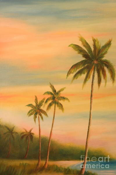 Wall Art - Painting - Florida Palms Trees by Gabriela Valencia