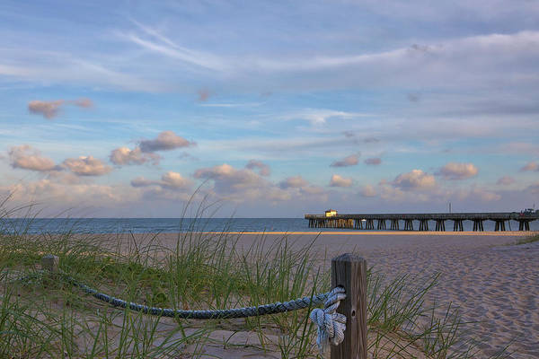 Photograph - Florida Pamplona Beach Fishing Pier by Juergen Roth