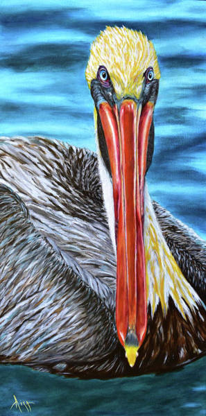Wall Art - Painting - Florida Pelican by Aixa Renta-DeLuca