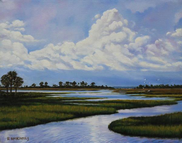 Marsh Bird Painting - Florida by Rick McKinney