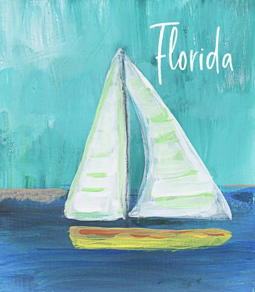 Wall Art - Mixed Media - Florida Sailing 2- Art By Linda Woods by Linda Woods