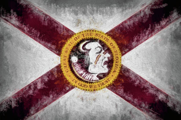 Digital Art - Florida State Flag by JC Findley