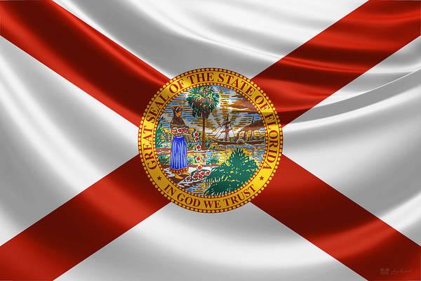 Digital Art - Florida State Flag by Serge Averbukh