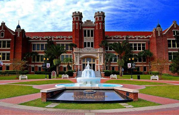 Photograph - Florida State University Westcott Building  by Movie Poster Prints