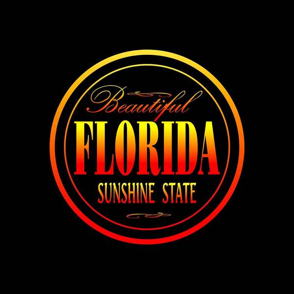 Mixed Media - Florida Sunshine State Design by Peter Potter