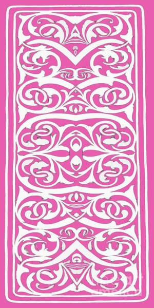Cell Phone Wall Art - Painting - Florishes Pink Phone Case by Edward Fielding