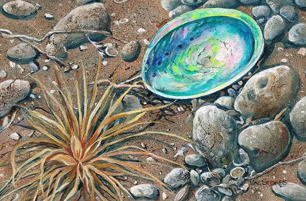 Painting - Flotsam Finds by Val Stokes