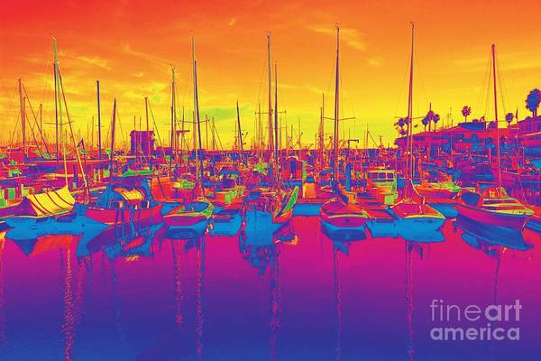 Photograph - Flourescent Harbor by Jenny Revitz Soper