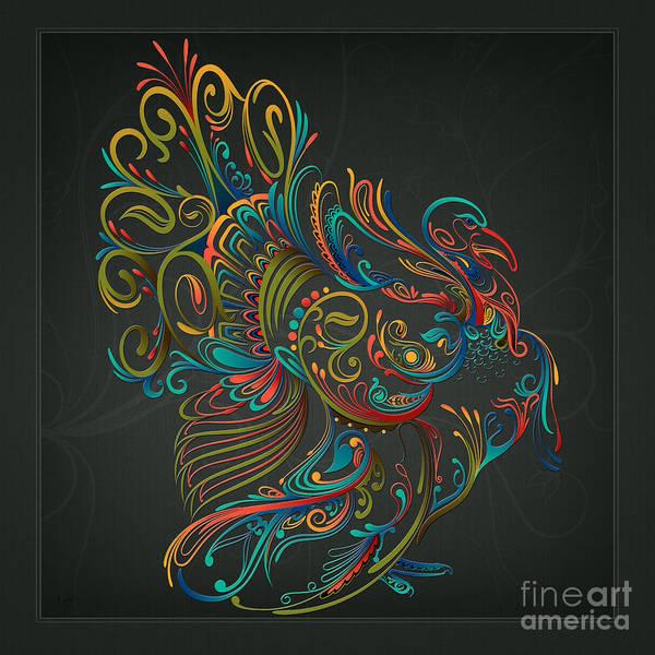 Thanksgiving Digital Art - Flourish Turkey by Peter Awax