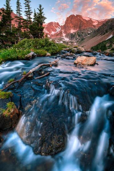 Alpenglow Photograph - Flow Below The Glow by Mike Berenson