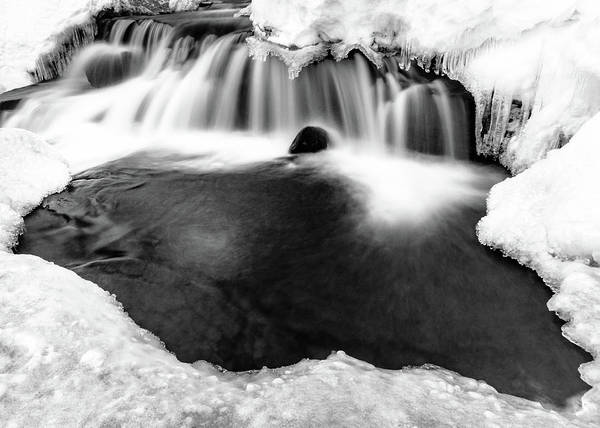 Lightroom Photograph - Flow Of Eagle's Light Framed With Ice by Mike Herron