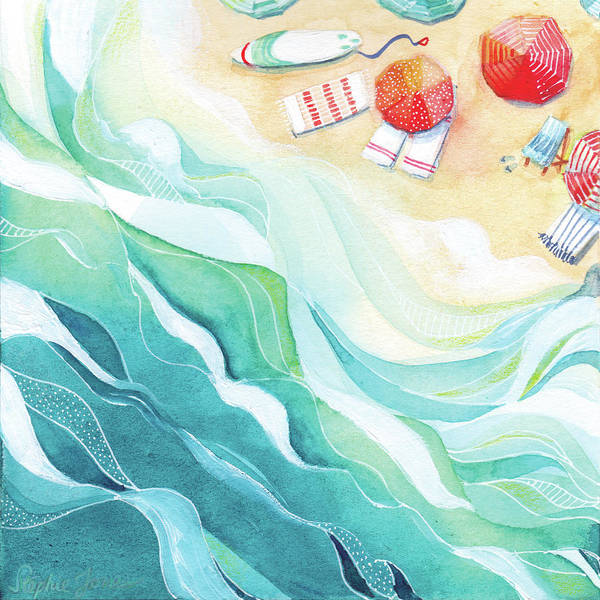 Beach Painting - Flow by Stephie Jones
