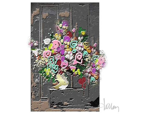 Mixed Media - Flower Arrangement by Larry Talley