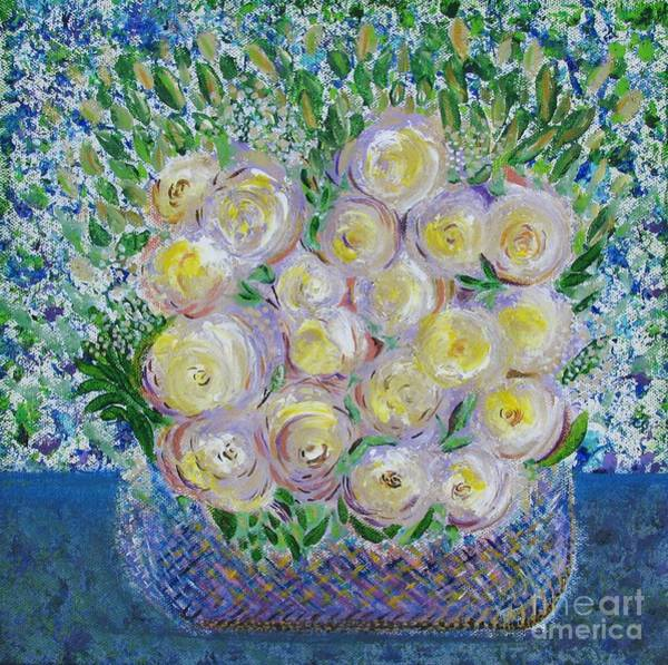 Flower Basket Art Print