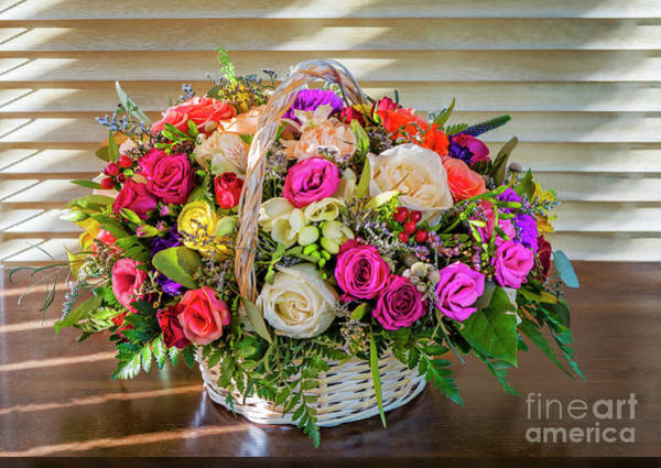 Floristry Photograph - Flower Basket For Mom by Viktor Birkus