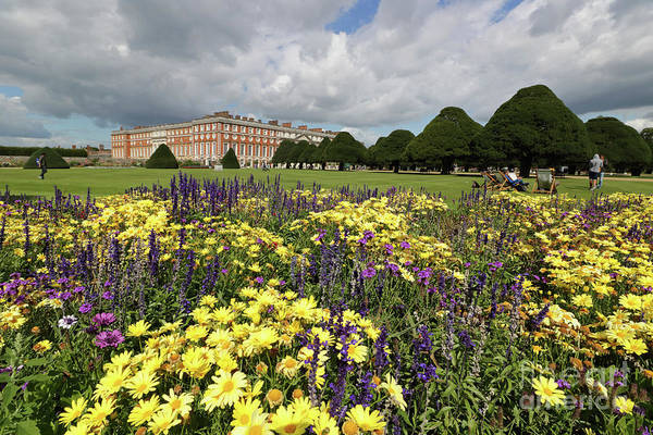 Flower Bed Hampton Court Palace Art Print