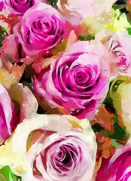 Wall Art - Painting - Flower Bouquet 2 by Chris Butler