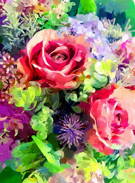 Wall Art - Painting - Flower Bouquet by Chris Butler