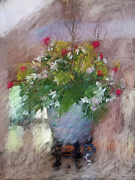 Chs Digital Art - Flower Bowl by Ches Black