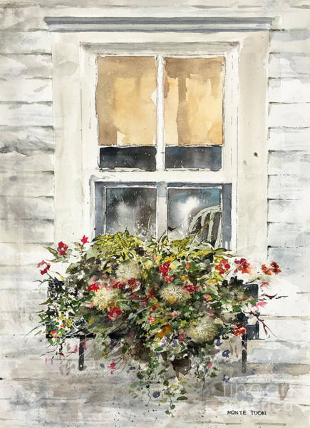 Painting - Flower Box by Monte Toon
