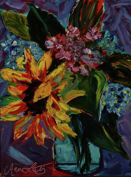 Wall Art - Painting - Flower Burst by Ann Lutz