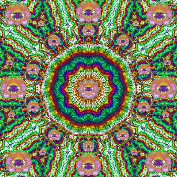 Lotus Mixed Media - Flower Chakra Of Healing Floral by Pepita Selles