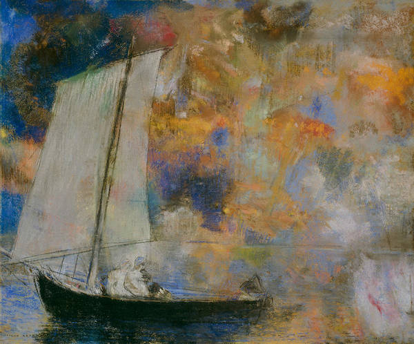Pastel - Flower Clouds by Odilon Redon