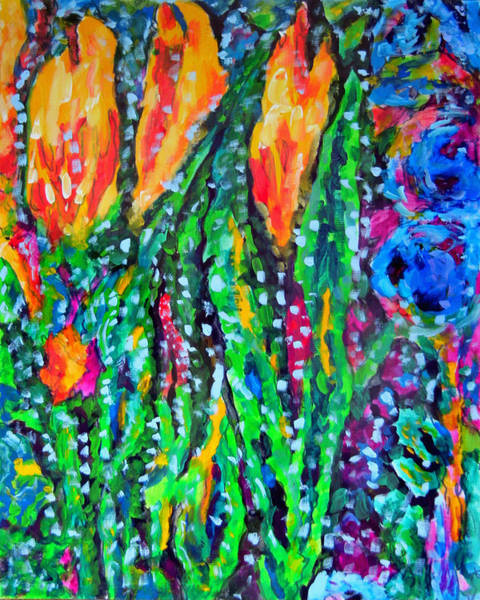 Wall Art - Painting - Flower Culture 294 V2 by Laura Heggestad
