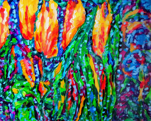 Wall Art - Painting - Flower Culture 294 V3 by Laura Heggestad