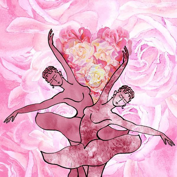 Painting - Flower Dance Hidden Heart by Irina Sztukowski