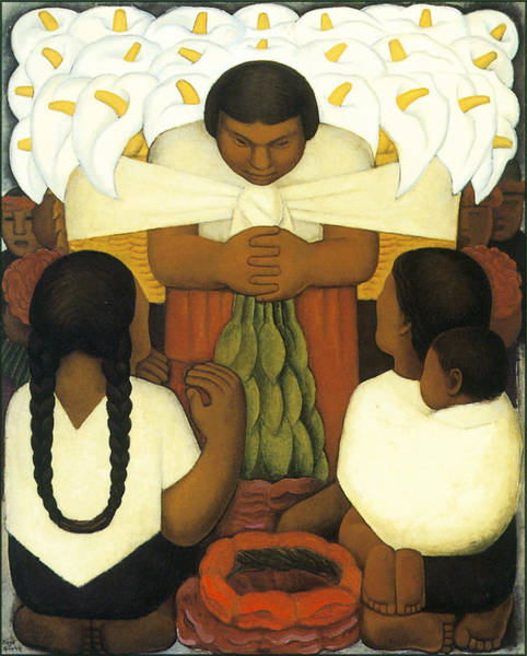 Braid Painting - Flower Day by Diego Rivera