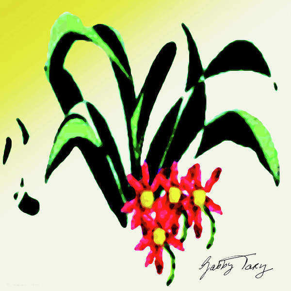 Painting - Flower Design #2 by Gabby Tary