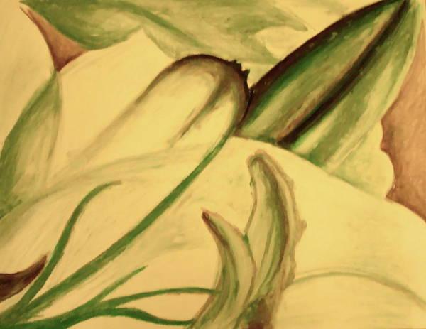 Oil Pastels Drawing - Flower Detail by Emily Jones