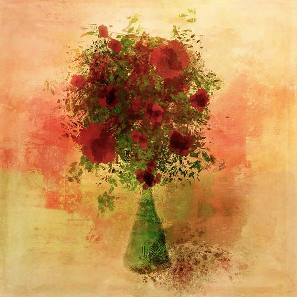 Painting - Flower Filled Vase by Christina VanGinkel