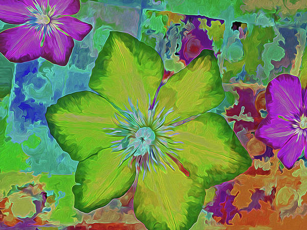 Mixed Media - Flower Fire 5 by Lynda Lehmann