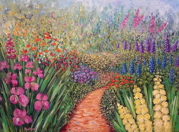 Painting - Flower Gar02den  by Lynn Buettner