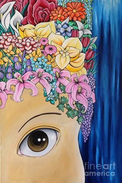 Snapdragons Painting - Flower Girl by Dan Gee