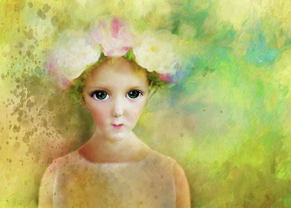 Painting - Flower Girl Eyes by Christina VanGinkel