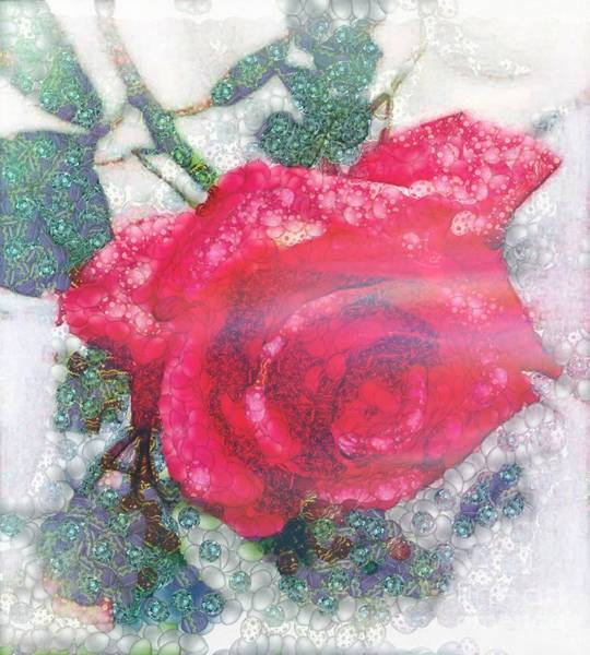 Painting - Flower In The Mix by Catherine Lott