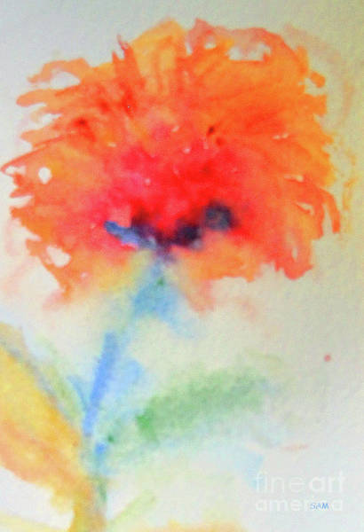 Painting - Flower In Watercolor 3 by Sandy McIntire