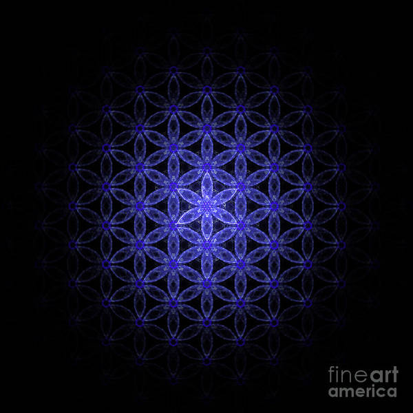 Digital Art - Flower Of Life In Blue by Alexa Szlavics