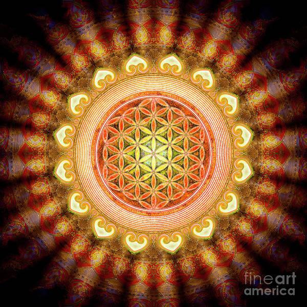 Wall Art - Digital Art - Flower Of Live - Artwork Sun by Dirk Czarnota