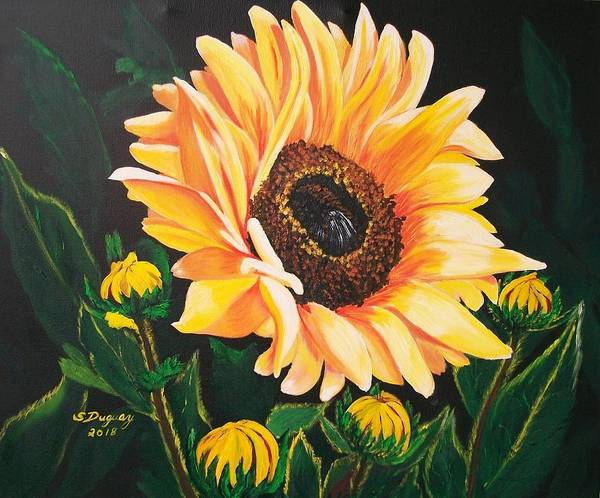 Painting -  Flower Of The Sun by Sharon Duguay